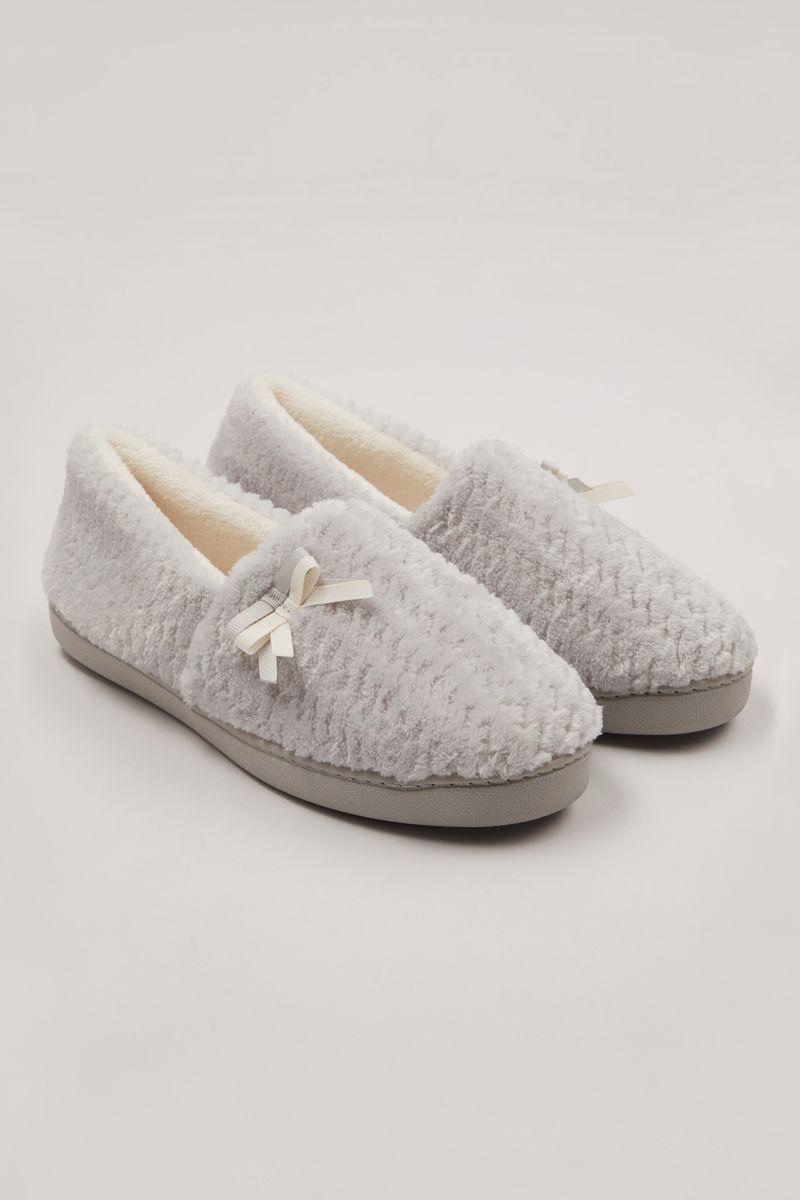 Grey Comfort Slippers