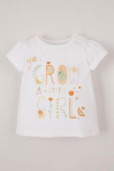 Grow Slogan Print T-shirt