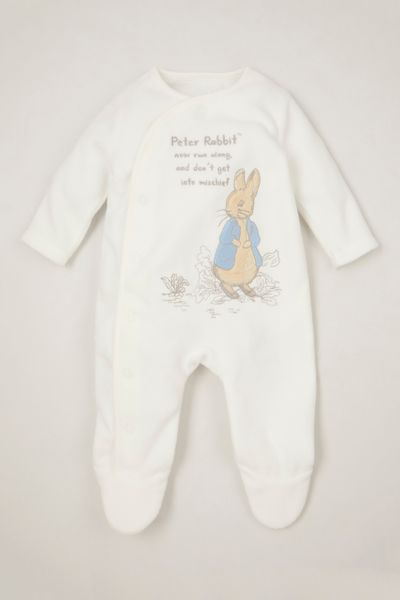 Peter Rabbit White Fleece Onesie