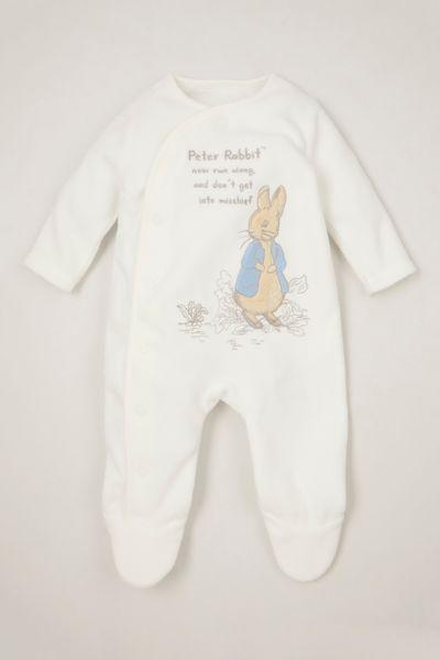 Peter Rabbit White Fleece Onesie