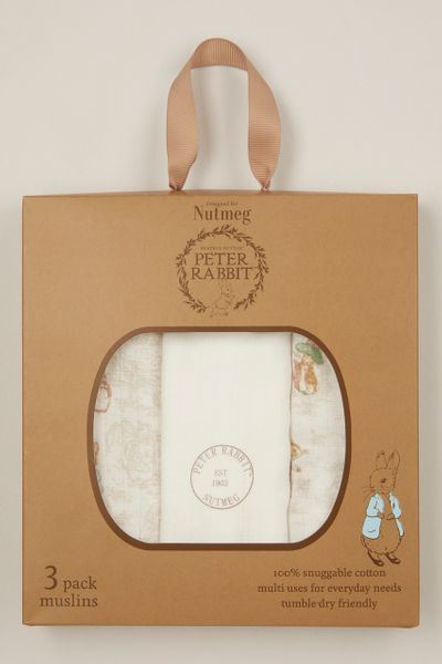 Peter Rabbit 3 Pack Muslin Squares