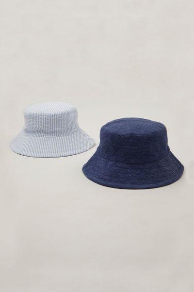 2 Pack Blue Bucket Hats