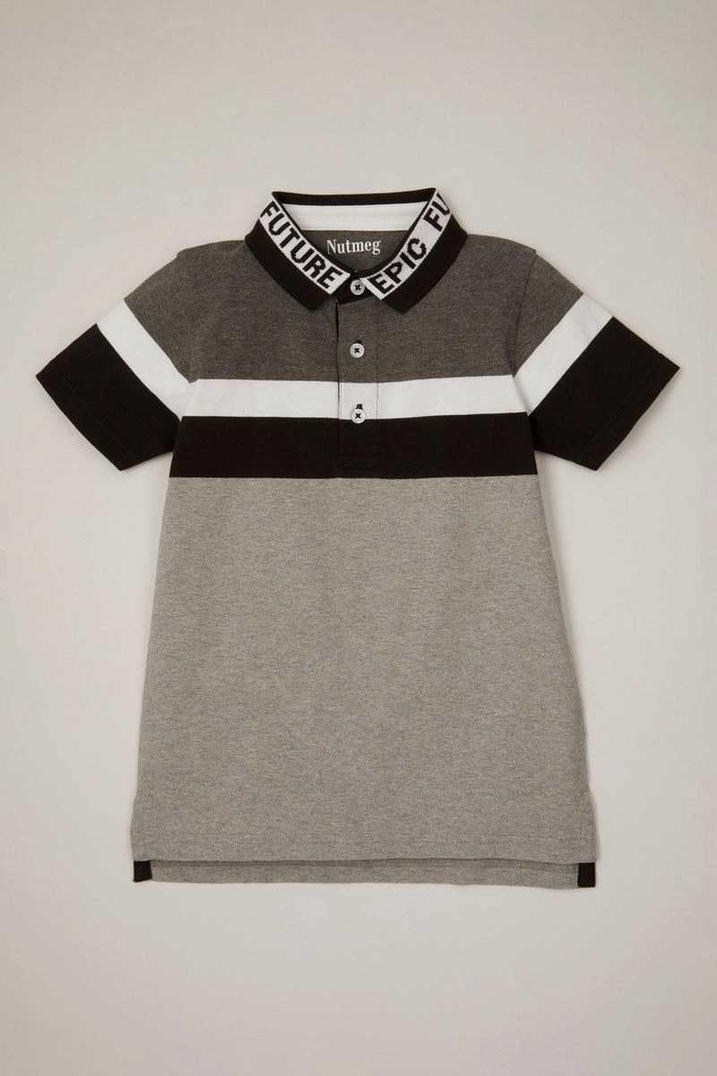 Slogan Collar Polo Shirt