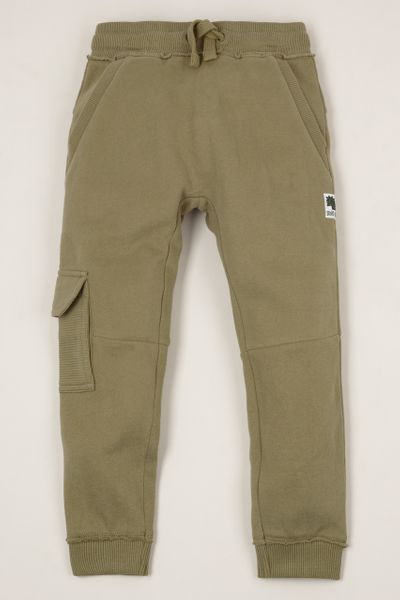 Khaki Raw Edge Joggers