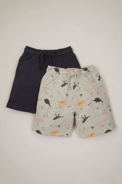 2 Pack Dino Sweat Shorts
