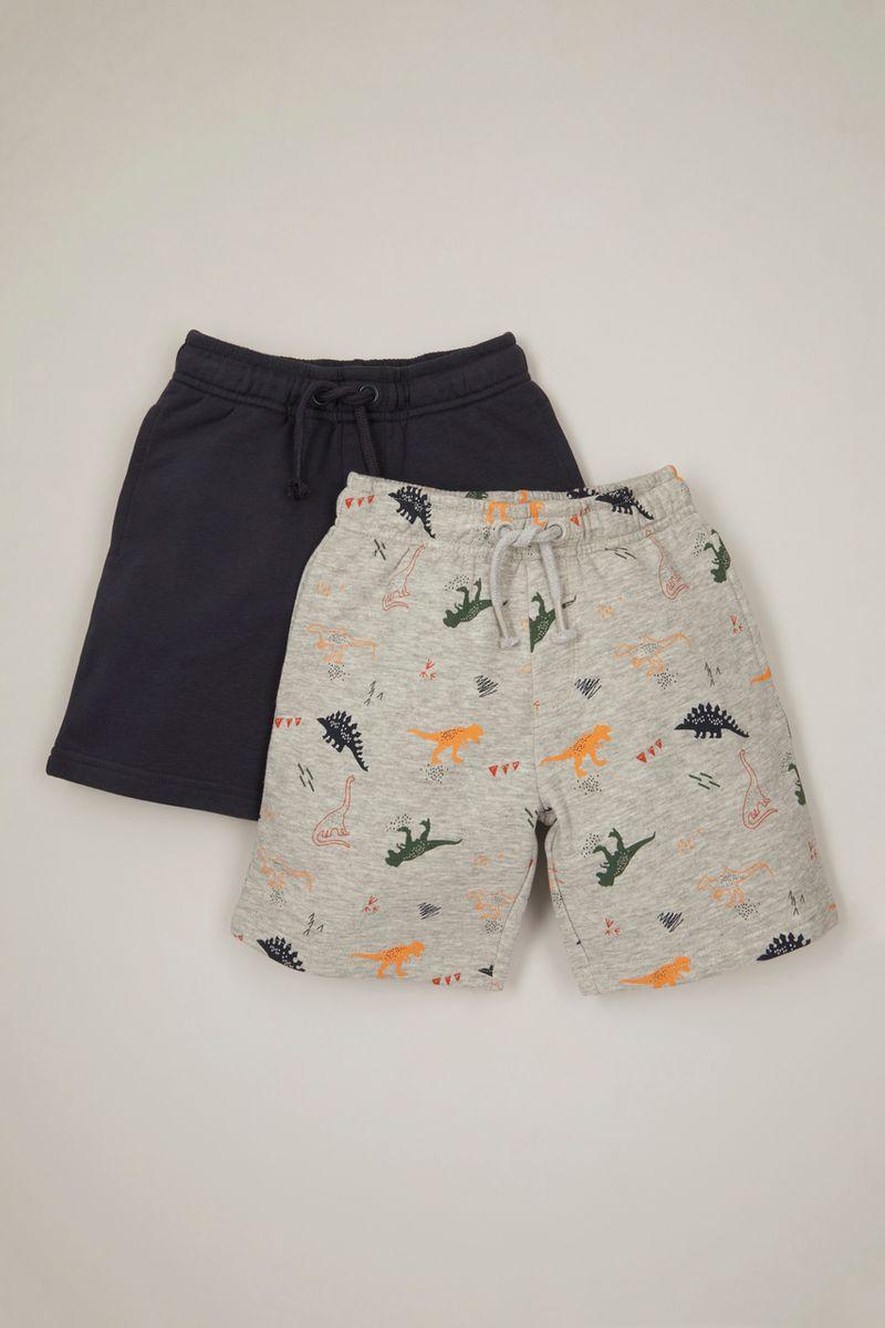2 Pack Dino Sweat Shorts