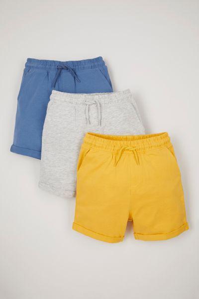 3 Pack Jersey Ochre Shorts