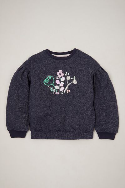 Sequin Flower sweatshirt