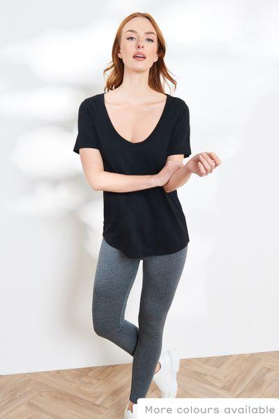 Short Sleeve Black Loose Fit T-shirt