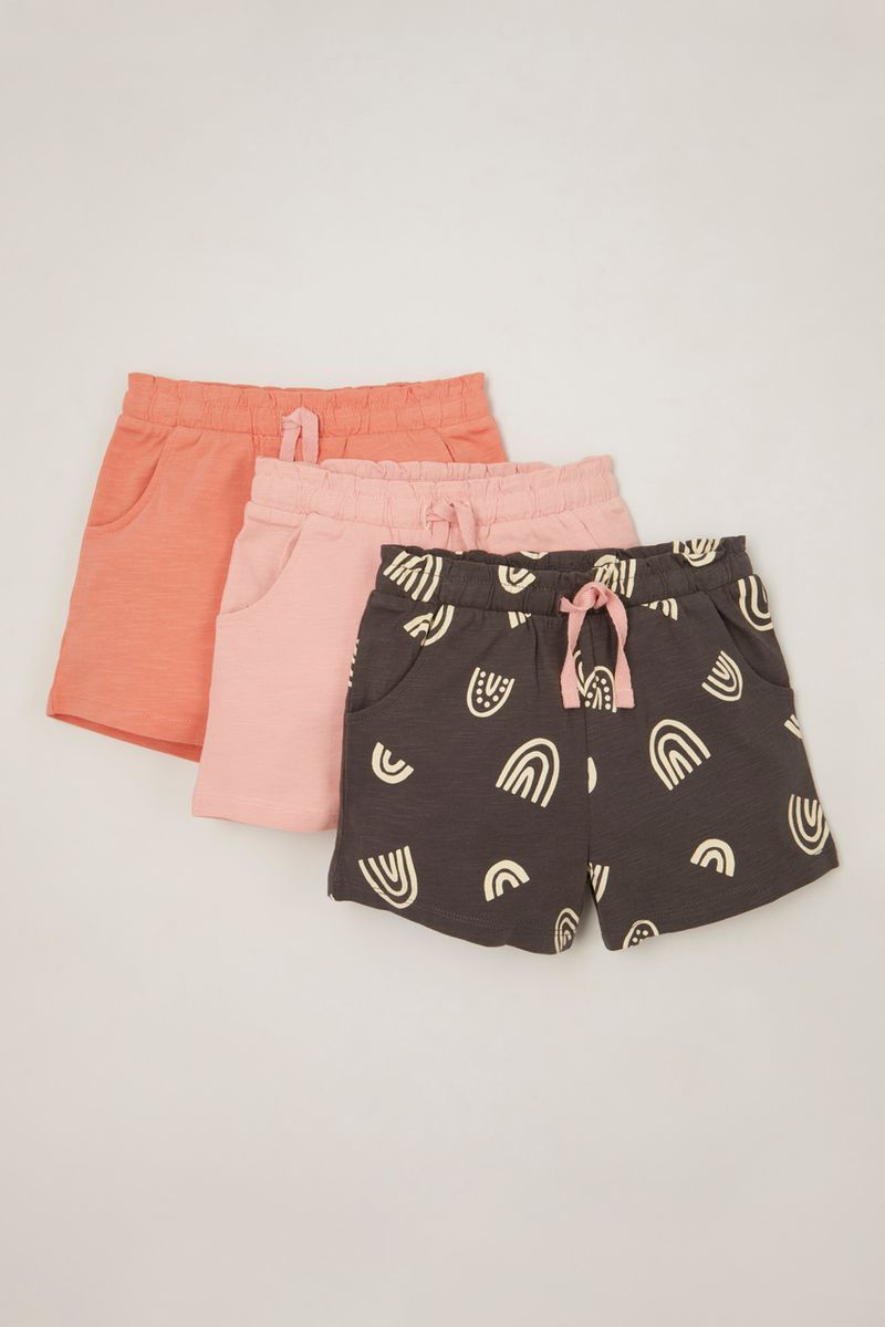 3 Pack Rainbow Jersey Shorts