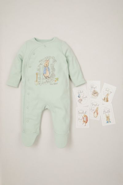 Peter Rabbit Green Sleepsuit with Baby Memory cards