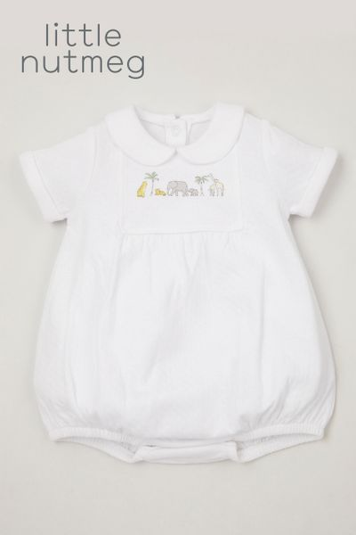 Little Nutmeg White Unisex romper
