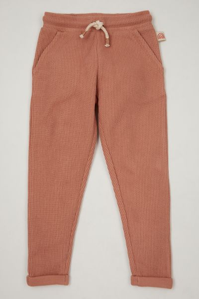 Pink Ribbed Joggers