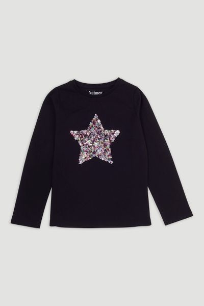Black Sequin Star T-shirt