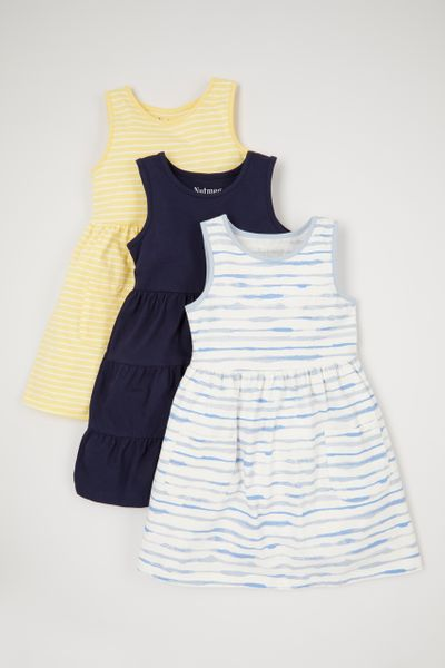3 Pack Stripe Jersey Dresses
