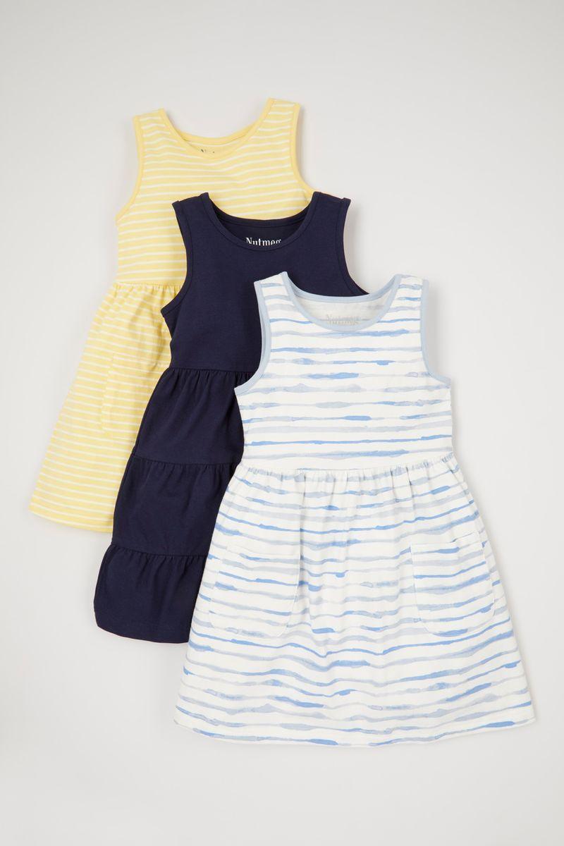 3 Pack Stripe Jersey Dresses