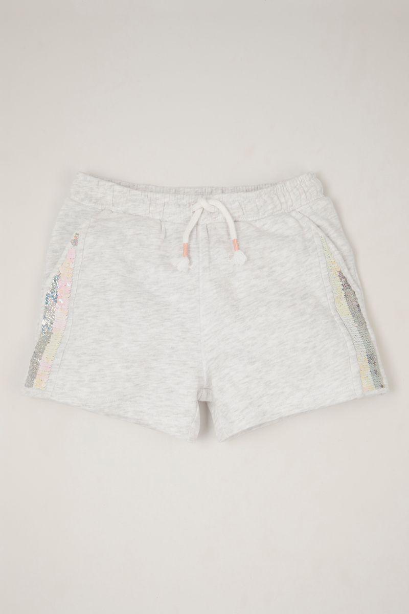 Reversible Sequin Sweat shorts