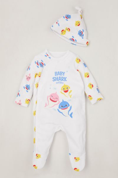 Baby Shark Sleepsuit & hat