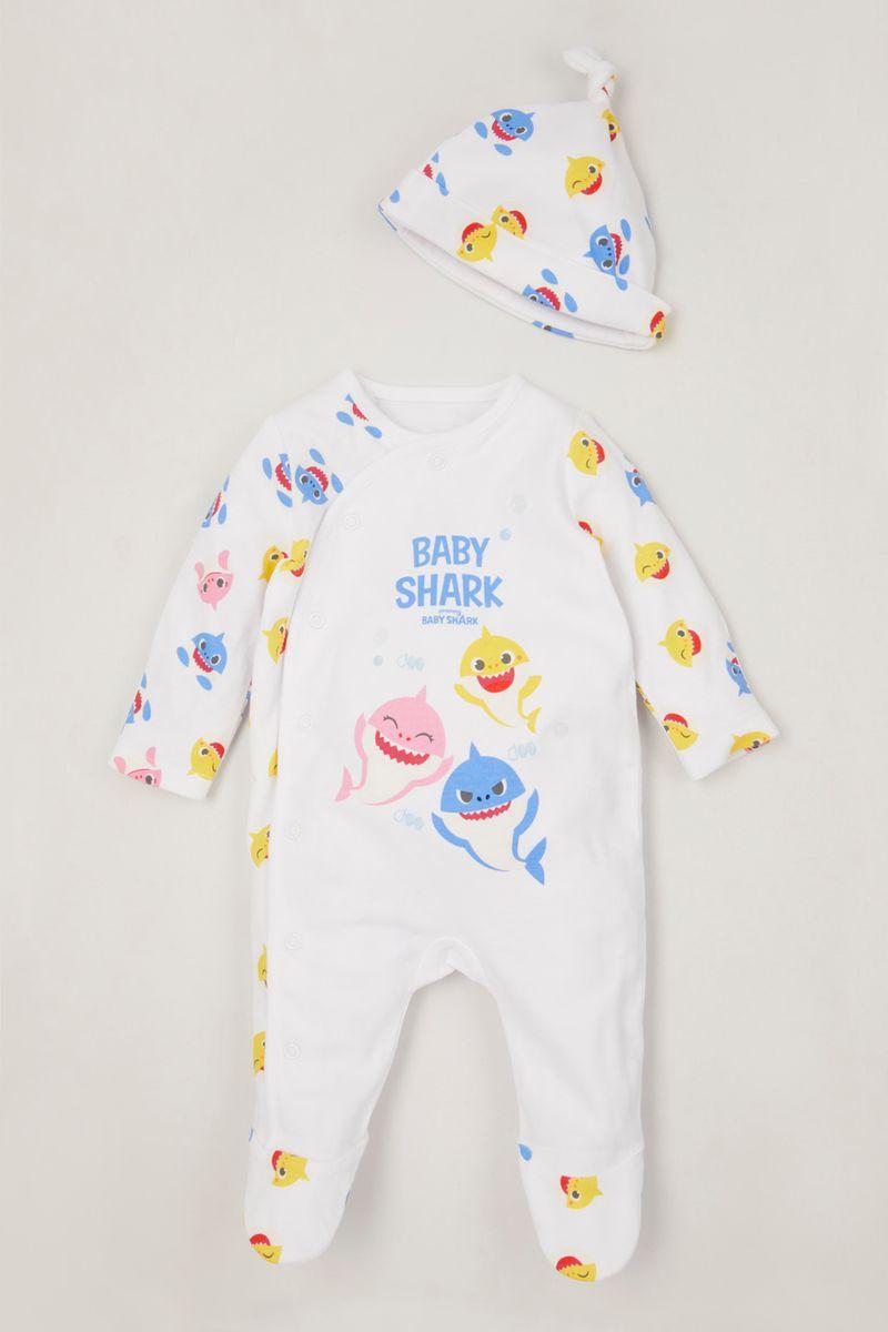 Baby Shark Sleepsuit & hat