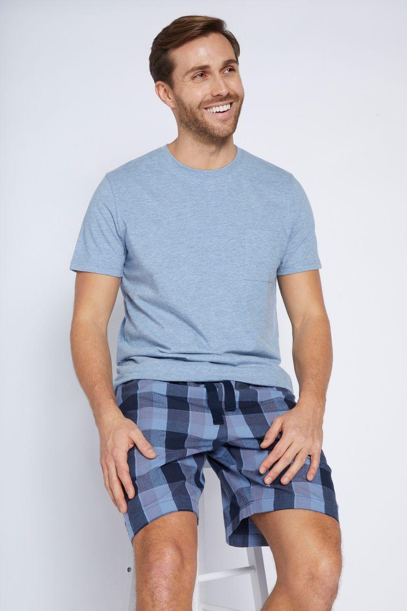 Check Print Blue Pyjamas