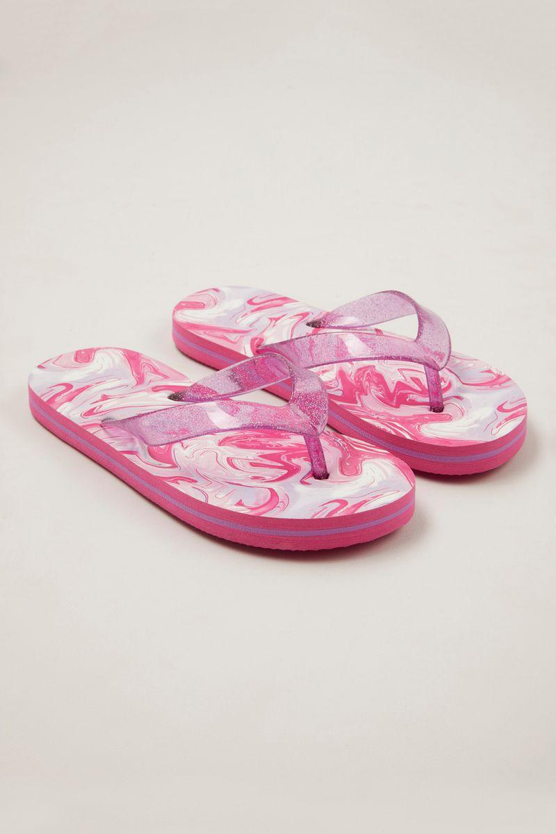 Swirly Print Flip Flops