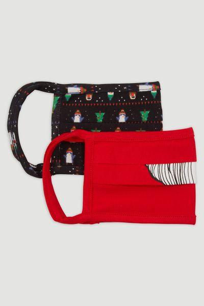 2 Pack Santa Christmas Face Coverings