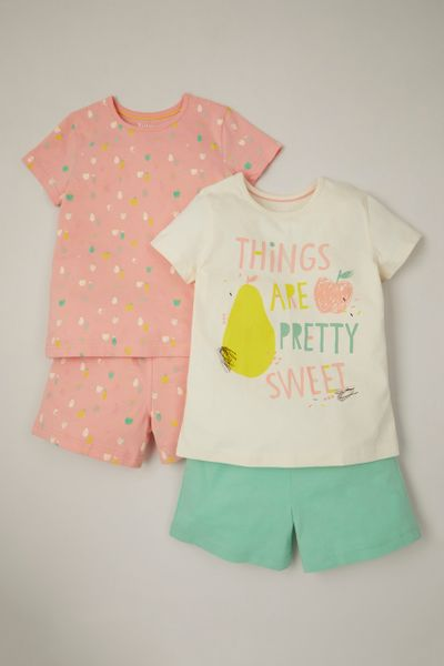 2 Pack Fruit Short Pyjamas