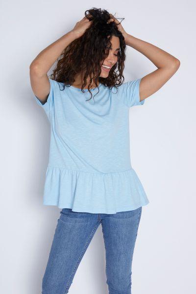 Blue Peplum T-shirt