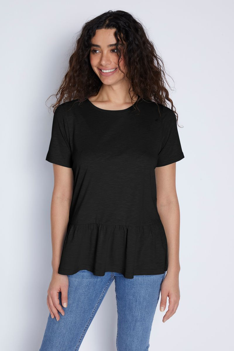 Black Peplum T-shirt
