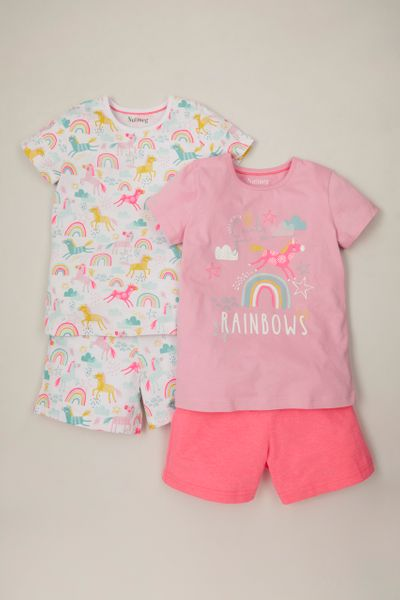 2 Pack Unicorn Short Pyjamas
