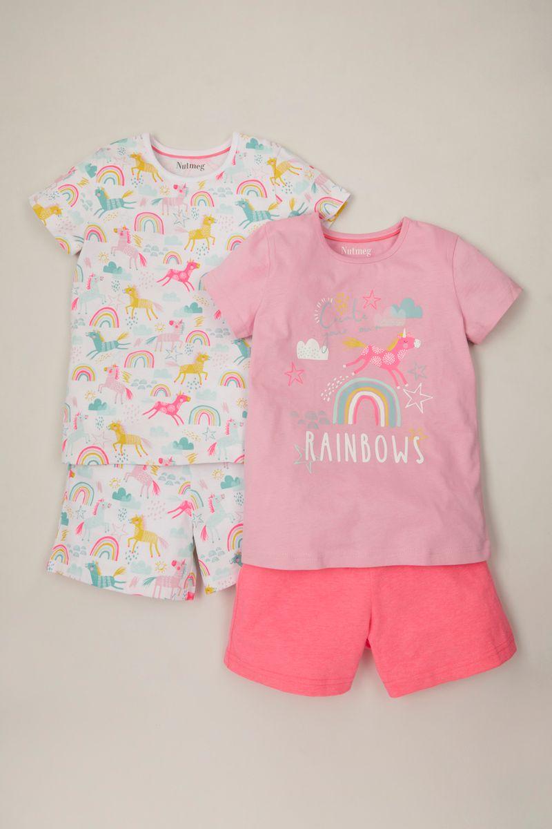 2 Pack Unicorn Short Pyjamas