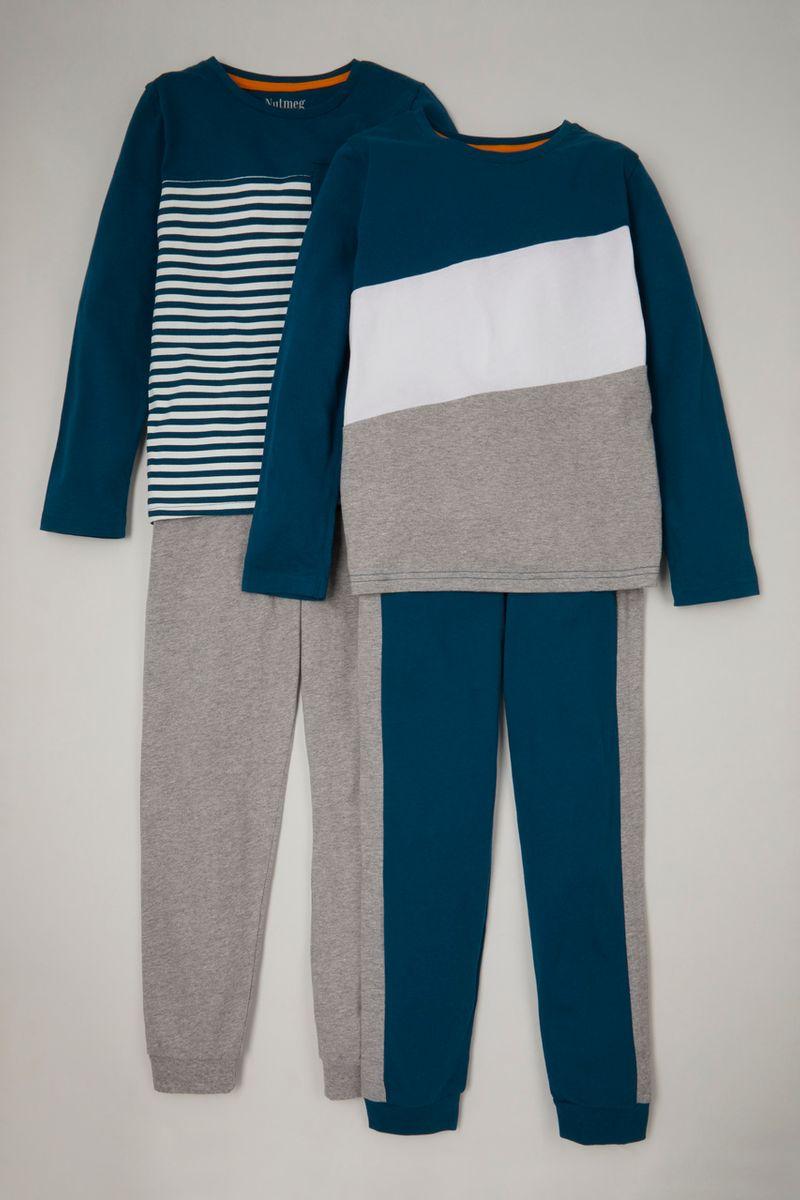 2 Pack Stripe Pyjamas