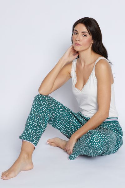 Green Spot Pyjama Bottoms