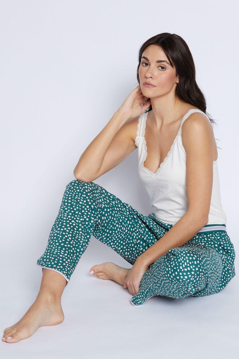Green Spot Pyjama Bottoms