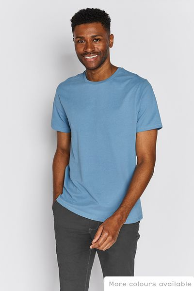 Deep Blue Crew Neck T-Shirt