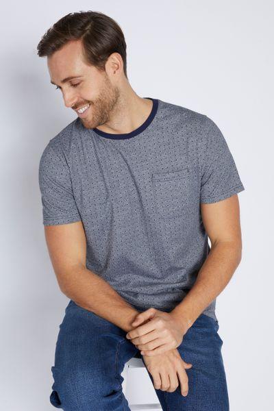 Navy Print T-Shirt