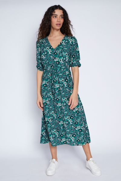 Green Floral Animal Dress