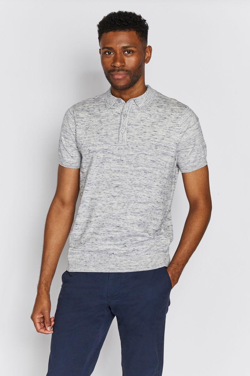 Blue Space Dye Polo shirt
