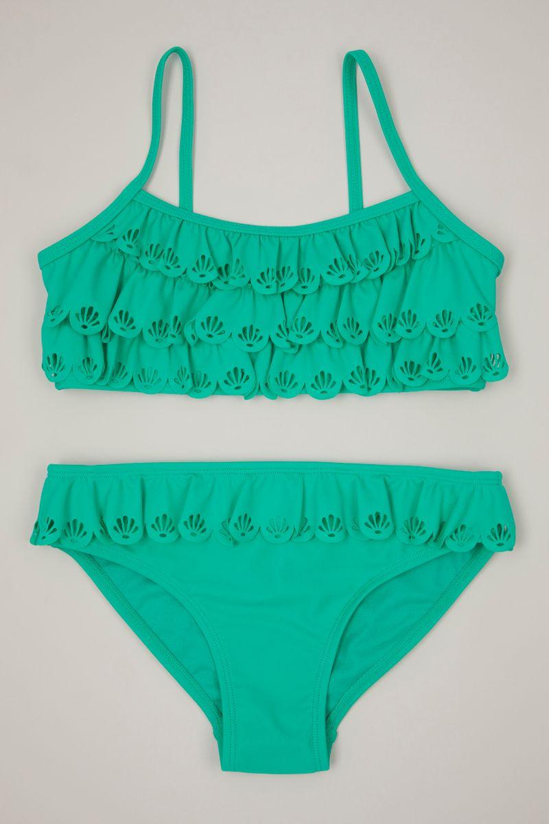 Turquoise Scallop Trim bikini