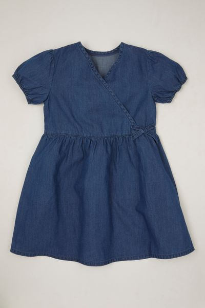 Denim Wrap Tea dress 3-14yrs