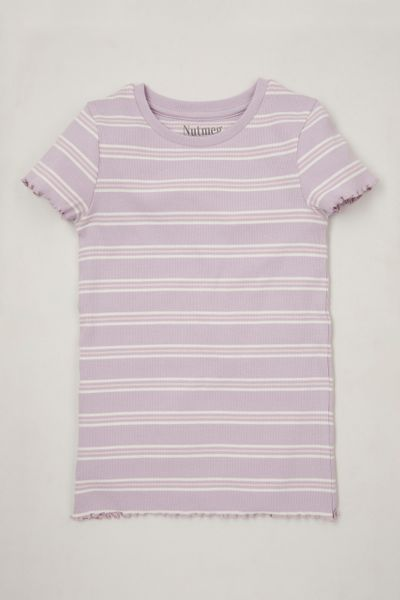 Lilac Ribbed T-shirt 3-14yrs
