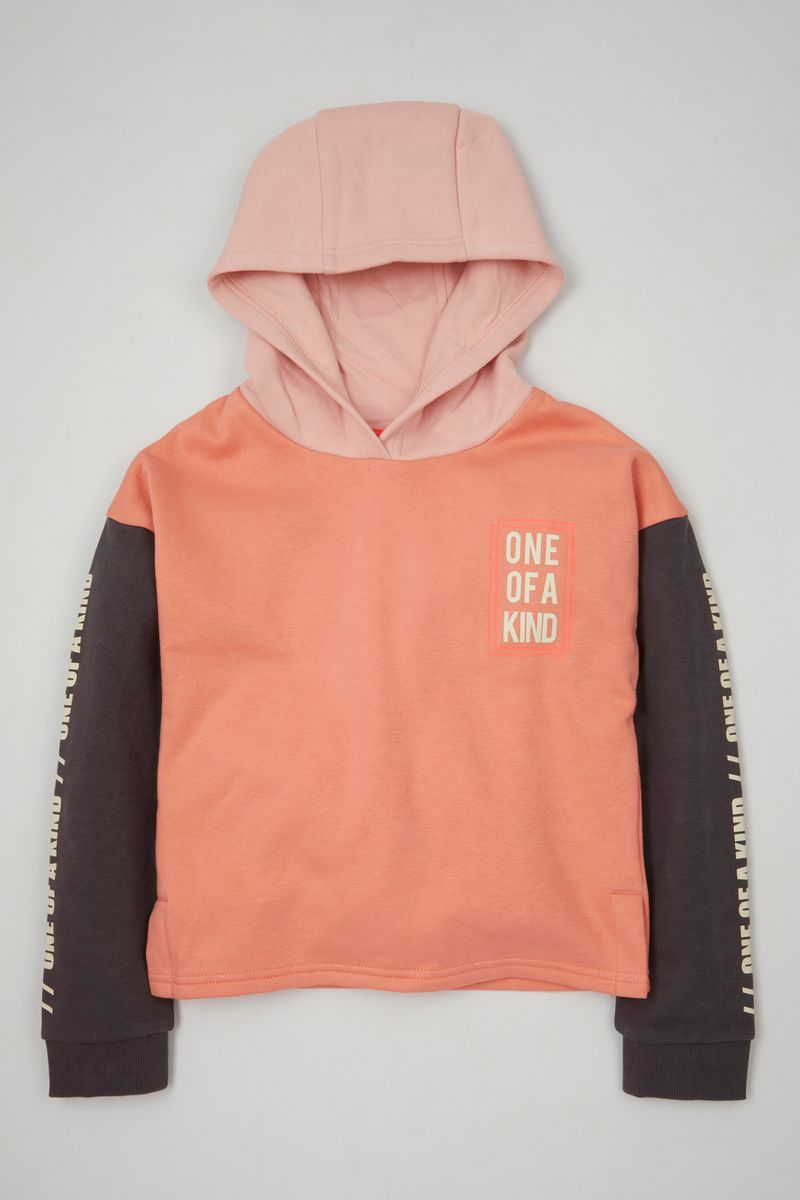One of a Kind Colour Block Hoodie