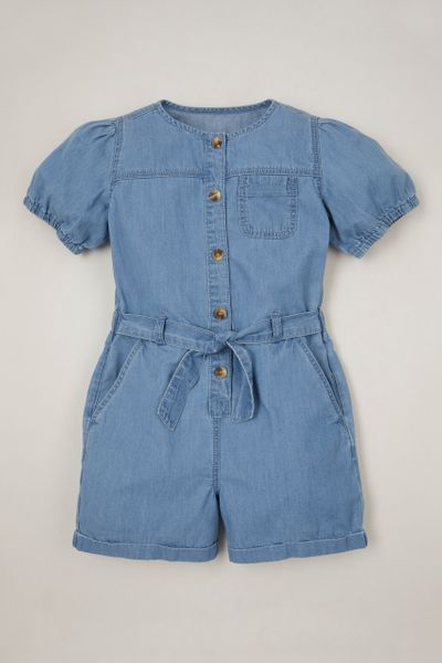Denim playsuit 3-14yrs