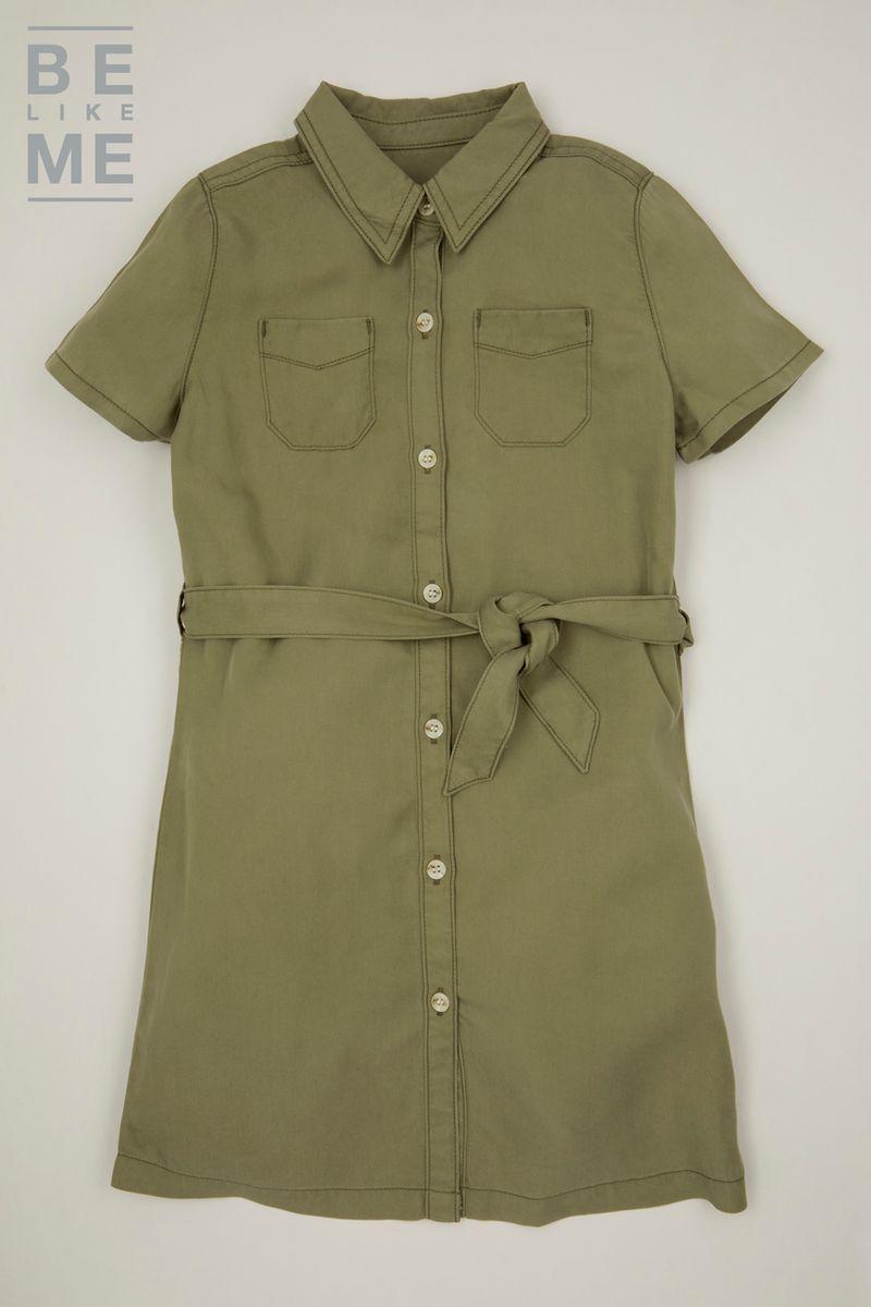 Be Like Me Khaki Safari Dress 3-14yrs