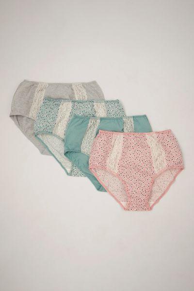 4 Pack Lace Briefs