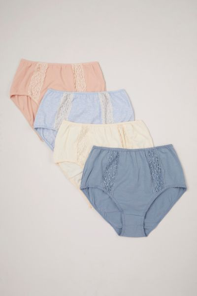 4 Pack Lace Full Briefs