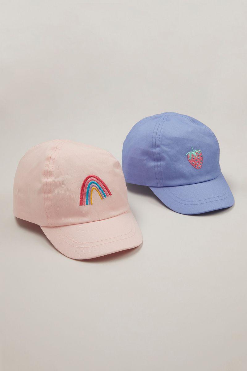 2 Pack Rainbows Caps