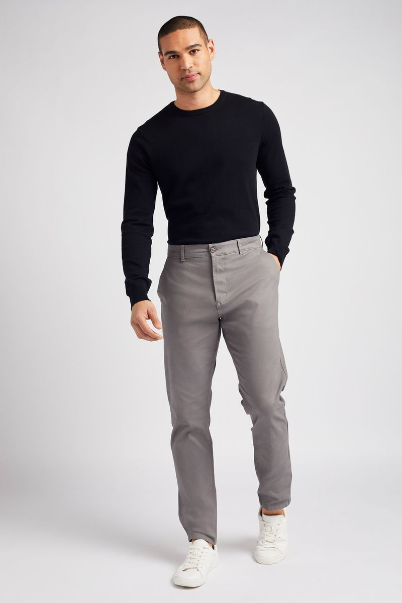 Online Exclusive Grey Chino Trousers