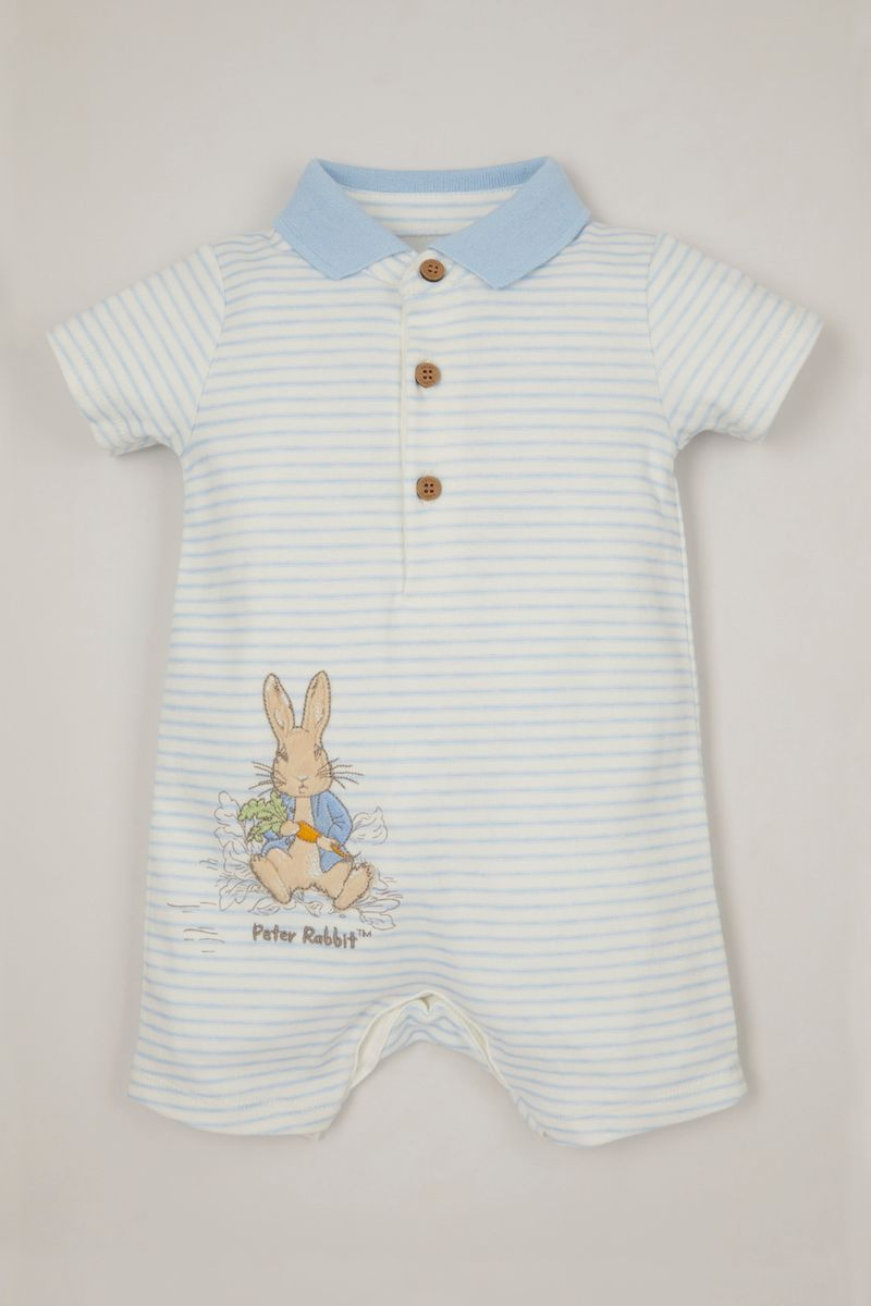 Peter Rabbit Blue Stripe romper