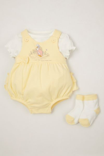 Peter Rabbit Yellow Romper Set
